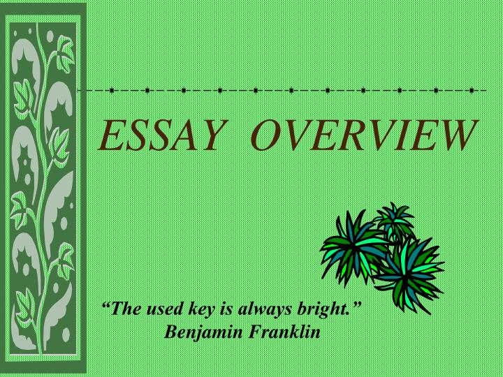 Essay overview
