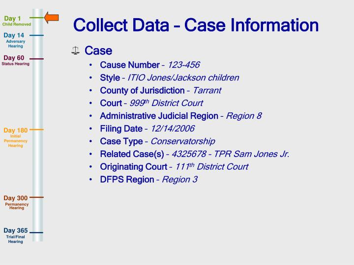 Collect Data – Case Information