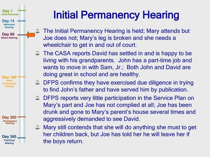 Initial Permanency Hearing