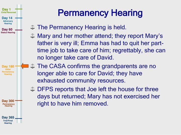Permanency Hearing
