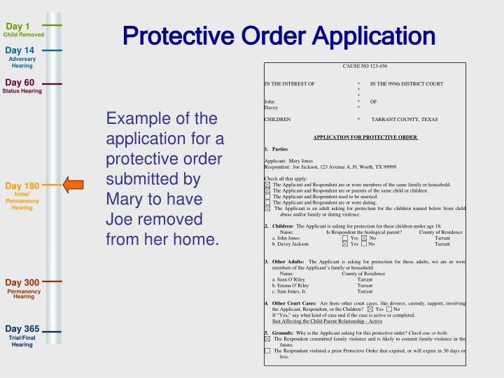 Protective Order Application