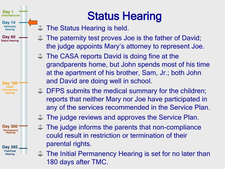 Status Hearing
