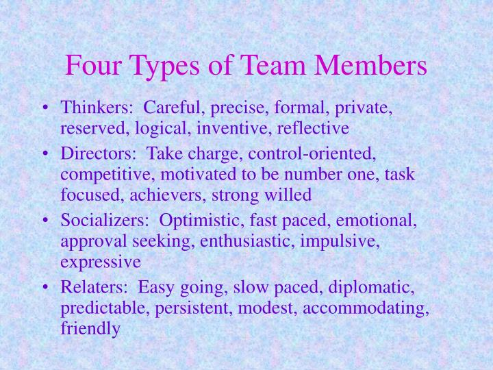 Four Types of Team Members