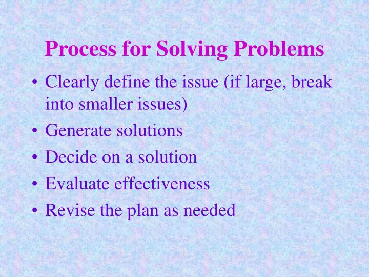 Process for Solving Problems