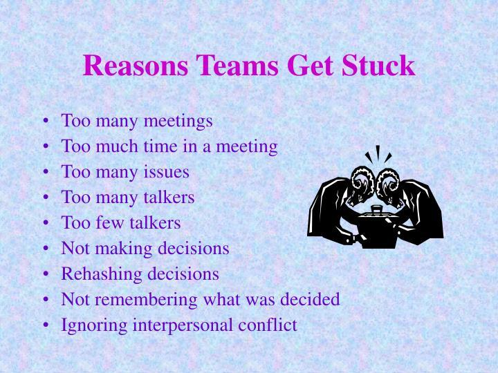 Reasons Teams Get Stuck