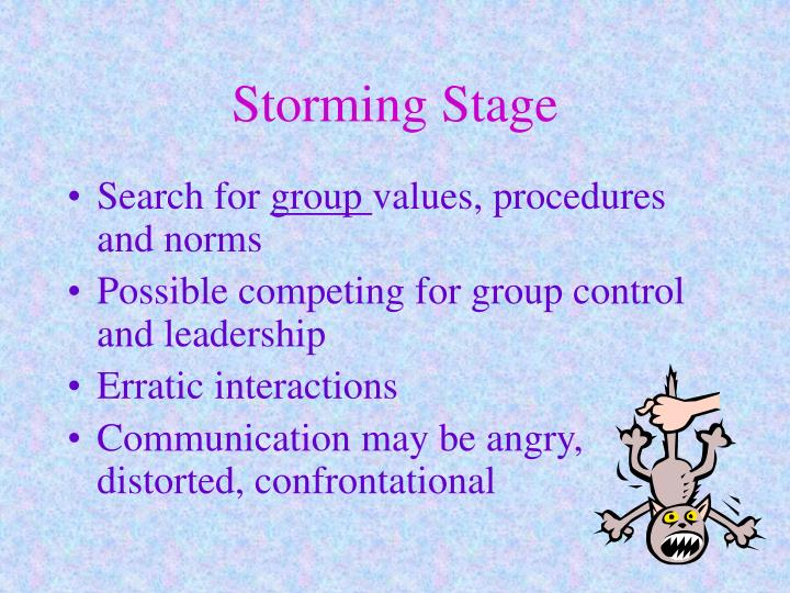 Storming Stage