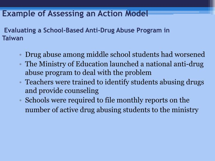 Example of Assessing an Action Model