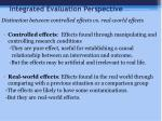 integrated evaluation perspective