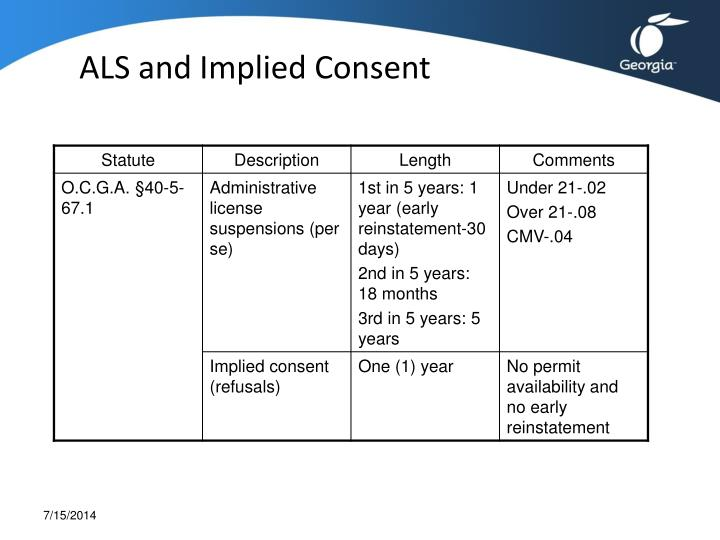 ALS and Implied Consent