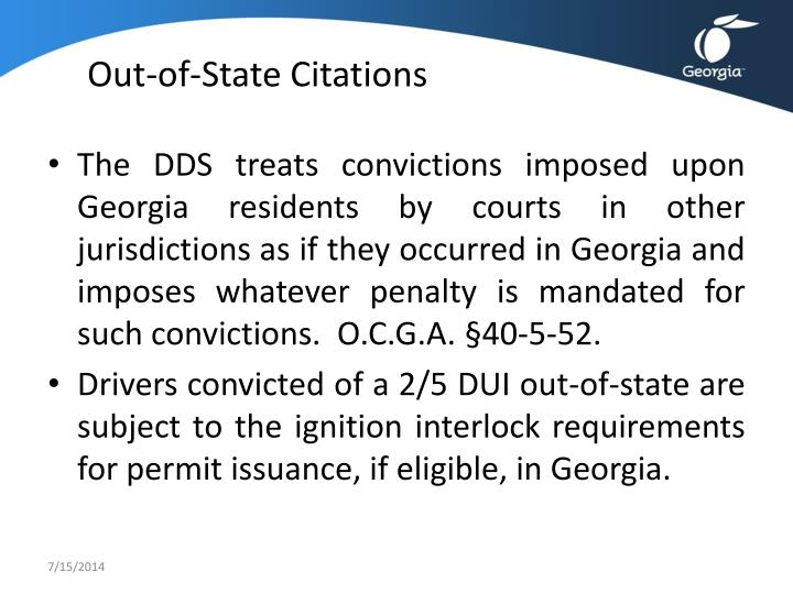 Out-of-State Citations