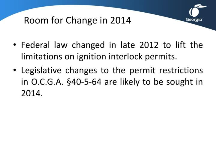 Room for Change in 2014