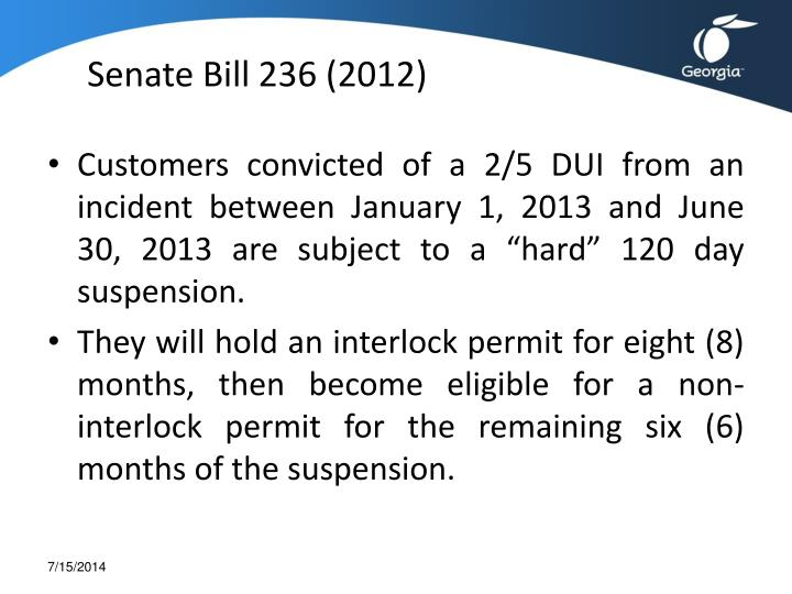 Senate Bill 236 (2012)