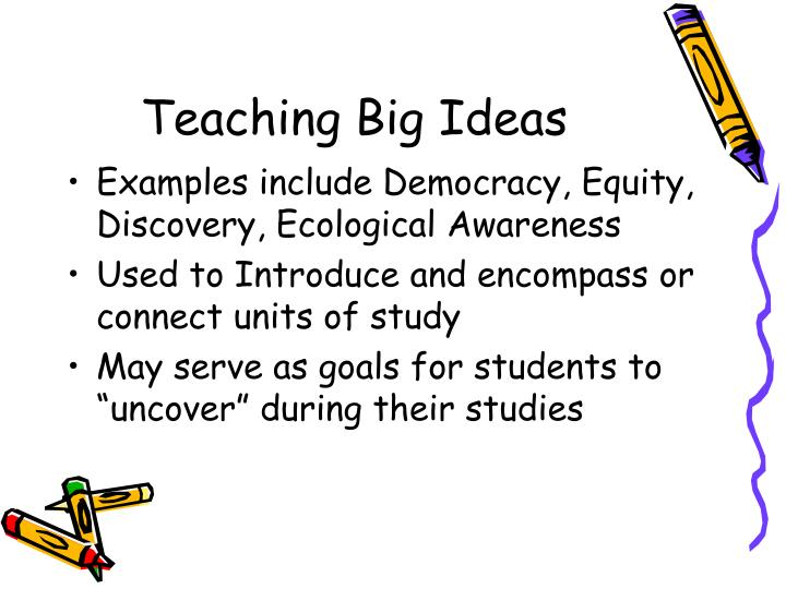 Teaching Big Ideas
