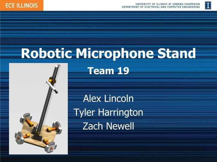 Robotic microphone stand