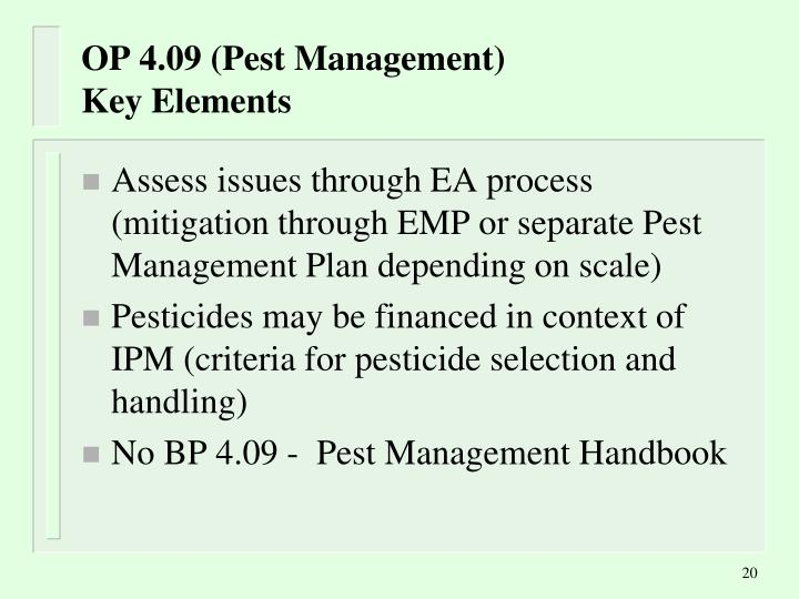 OP 4.09 (Pest Management)