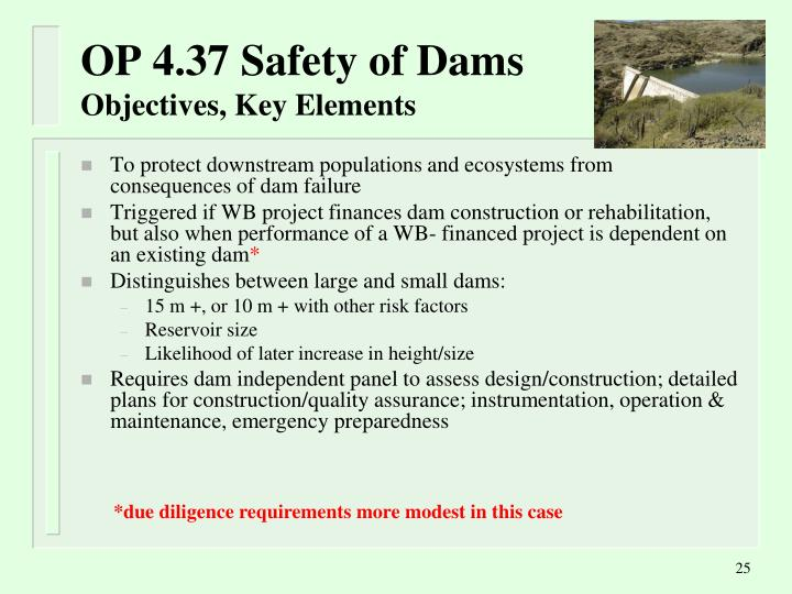 OP 4.37 Safety of Dams
