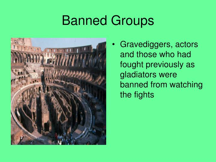 Banned Groups