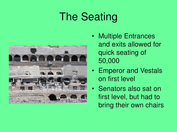 The Seating