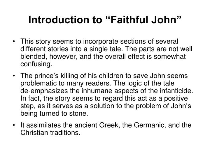 "Introduction to ""Faithful John"""