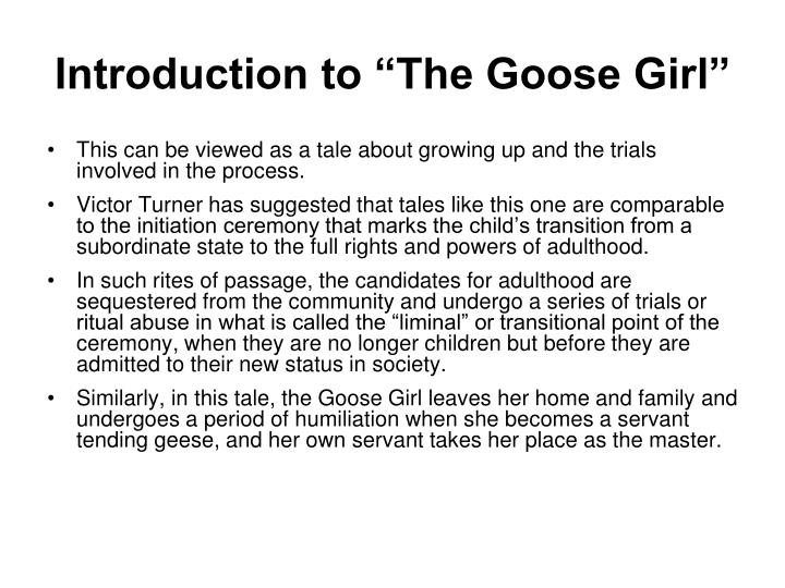 """Introduction to """"The Goose Girl"""""""