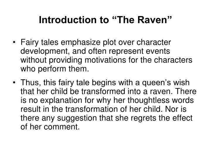 """Introduction to """"The Raven"""""""