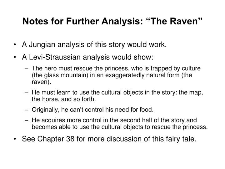 """Notes for Further Analysis: """"The Raven"""""""