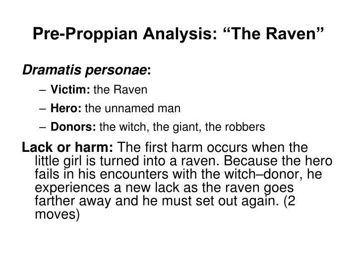 """Pre-Proppian Analysis: """"The Raven"""""""