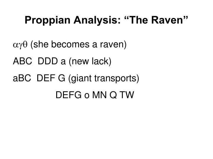 "Proppian Analysis: ""The Raven"""