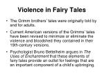 violence in fairy tales