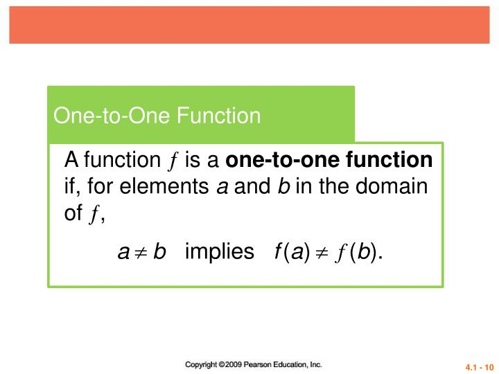 One-to-One Function