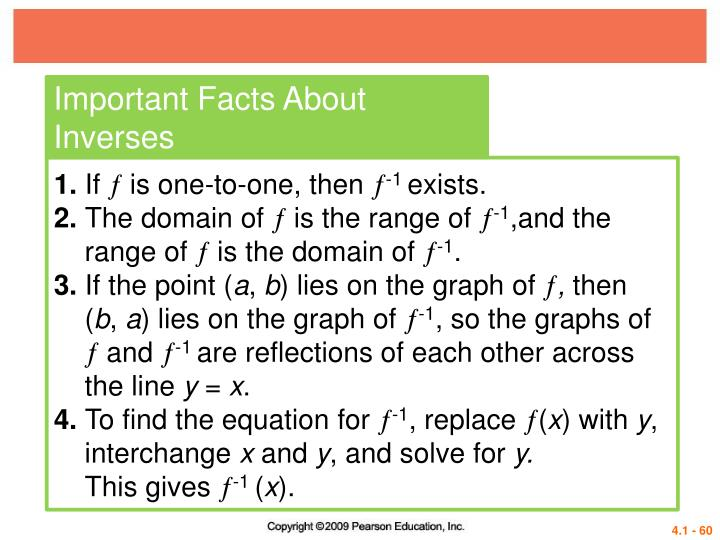 Important Facts About Inverses