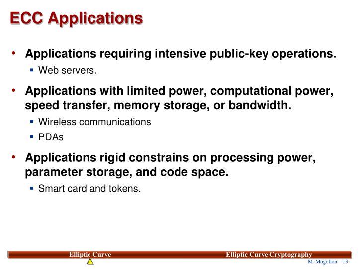 ECC Applications
