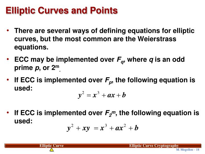 Elliptic Curves and Points