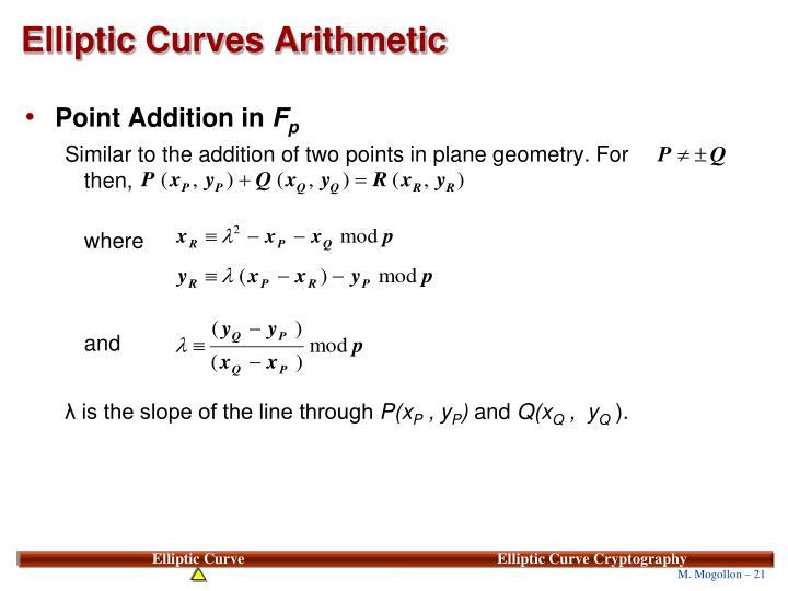 Elliptic Curves Arithmetic