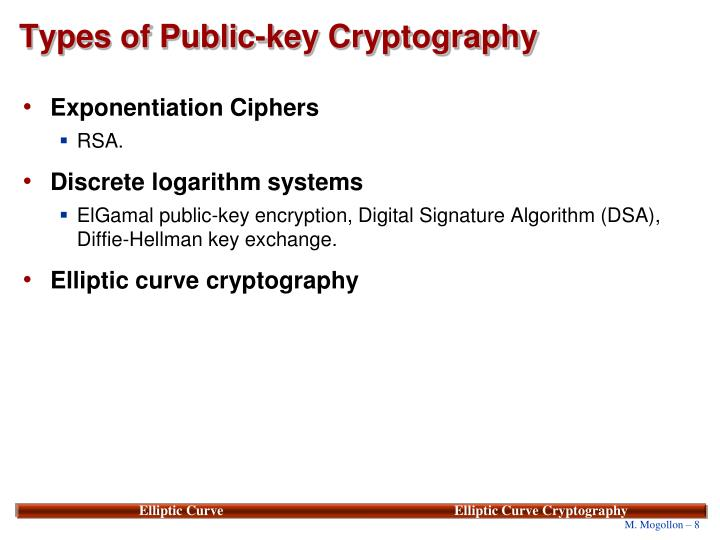 Types of Public-key Cryptography
