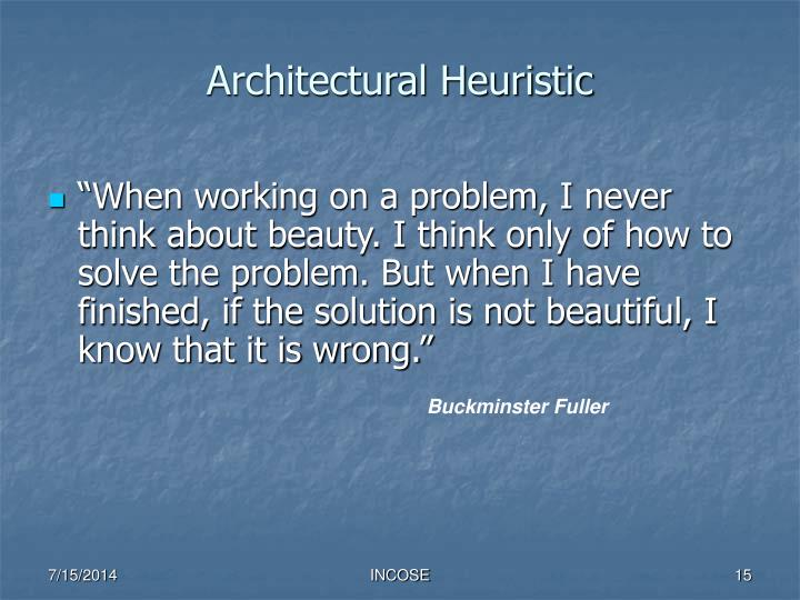 Architectural Heuristic