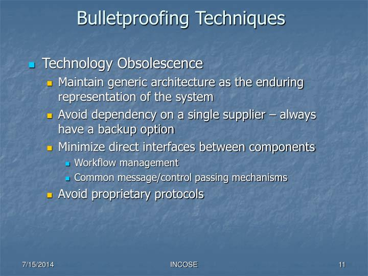 Bulletproofing Techniques