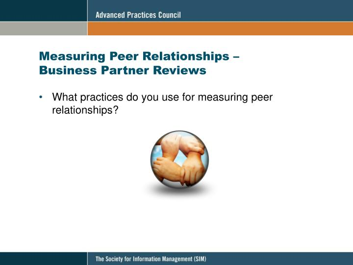 Measuring Peer Relationships –