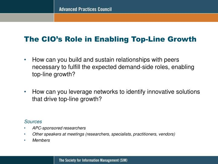 The CIO's Role in Enabling Top-Line Growth