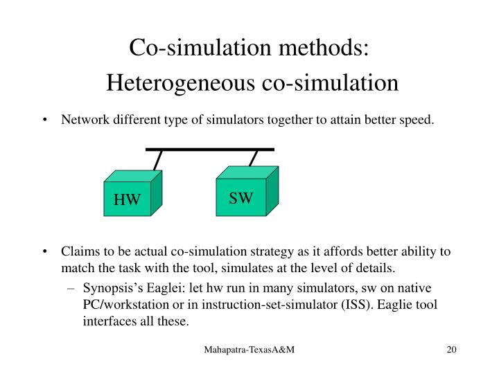 Co-simulation methods: