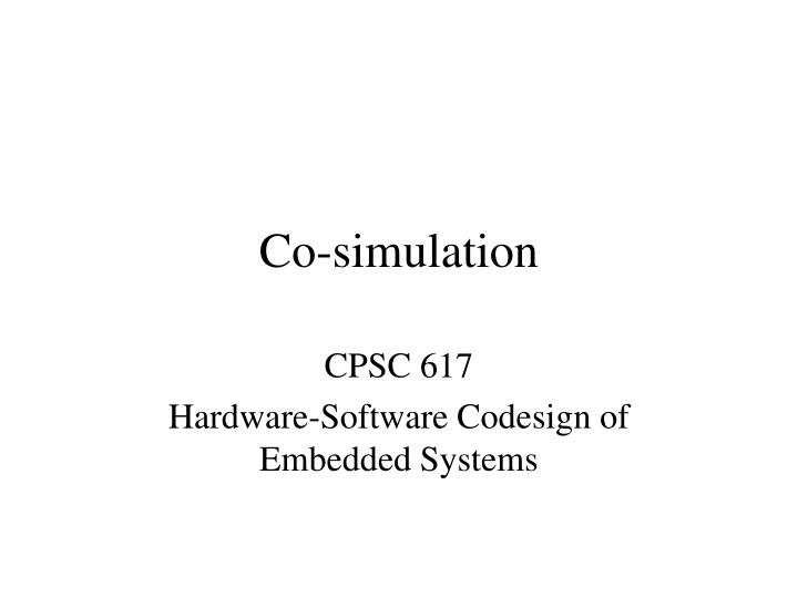 Co simulation
