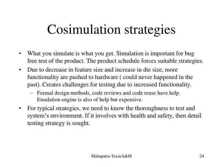 Cosimulation strategies