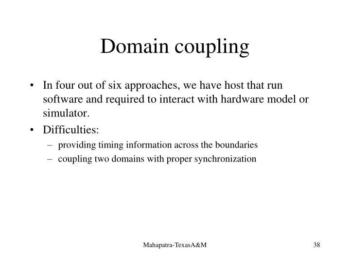 Domain coupling