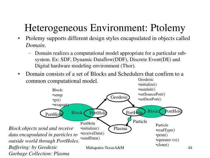 Heterogeneous Environment: Ptolemy
