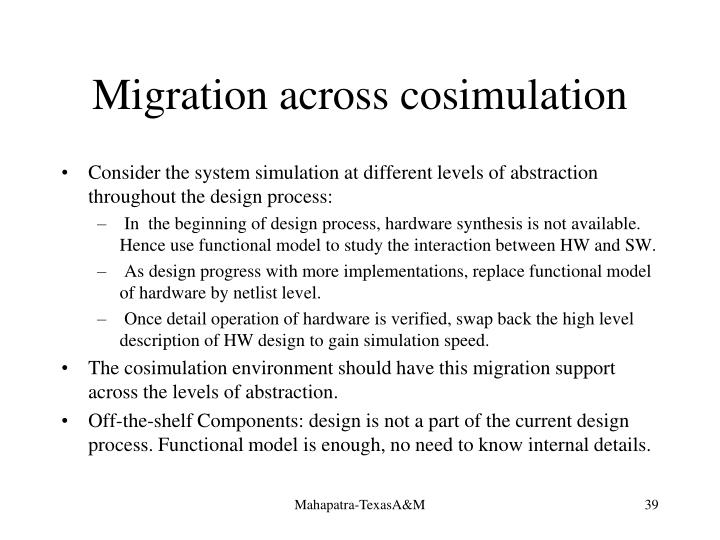 Migration across cosimulation
