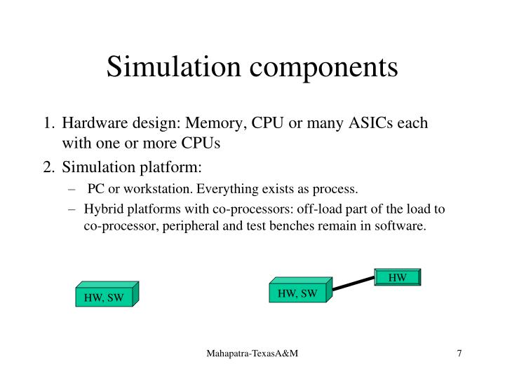 Simulation components