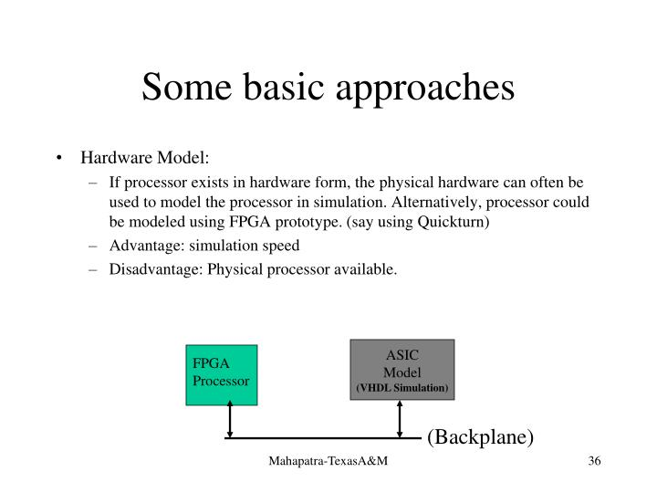 Some basic approaches