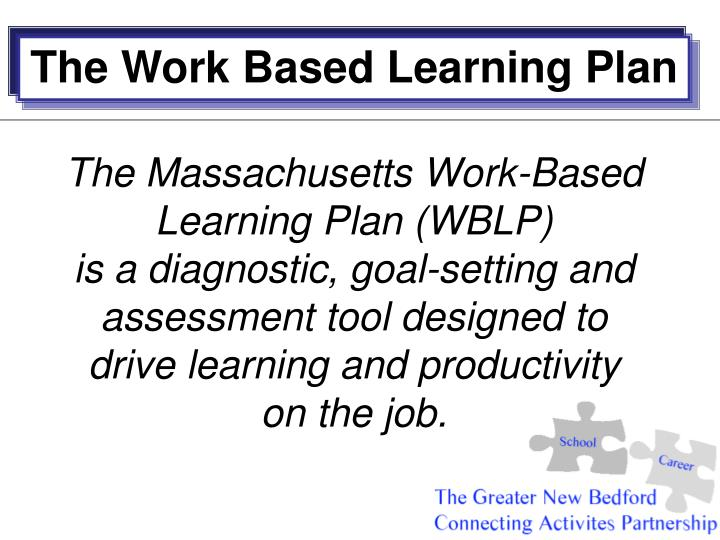 The Work Based Learning Plan