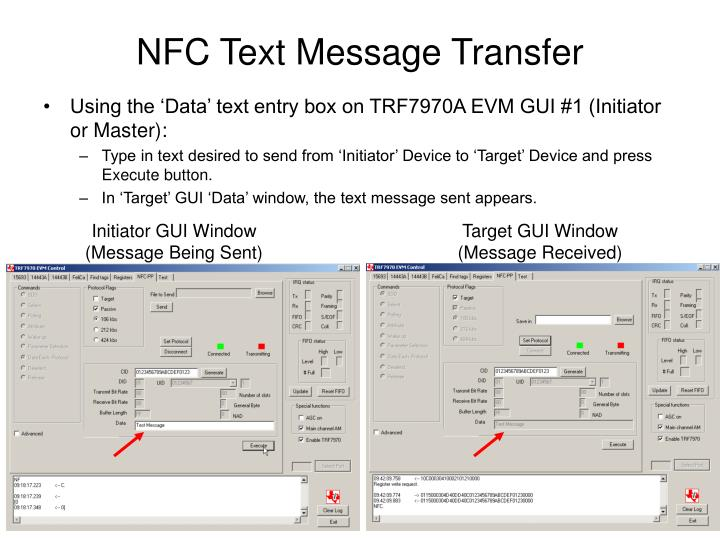 NFC Text Message Transfer