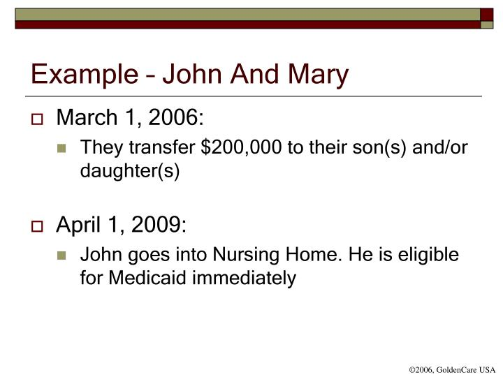 Example – John And Mary